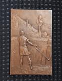Placheta I. N. Lahovari - 1907 - regalista - Agricultura - Industrie - medalie