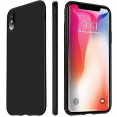 Husa Apple iPhone X, Elegance Luxury, Silicon TPU Slim Antisoc NEGRU, MyStyle
