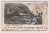 Turda , Cheile Turzii , carte postala clasica 1906 circulata la Wiena
