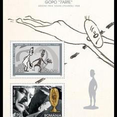 "ROMANIA 2008 - GOPO ""7 ARTE"" – GRAND PRIX TOURS (FRANȚA) 1958 MNH RO064, Nestampilat"