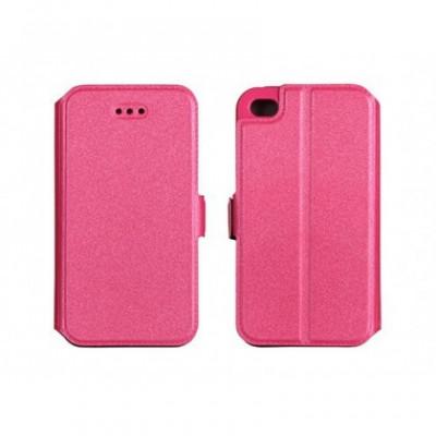 Husa Flip Carte Samsung G928 Galaxy S6 Edge+ Roz foto