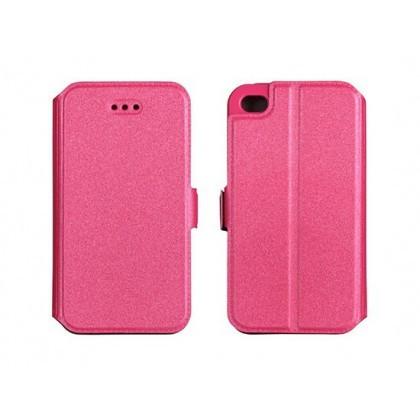 Husa Flip Carte Samsung G928 Galaxy S6 Edge+ Roz