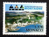 MONACO 2002, Anul International al Muntilor, serie neuzata, MNH, Nestampilat