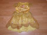 Costum carnaval serbare printesa bella belle pentru copii de 4-5-6 ani, 4-5 ani, Din imagine