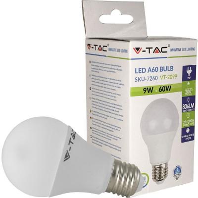 Bec LED A60 E27 9W 2700K alb cald V-tac foto