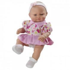 Papusa bebelus cu rochita roz, 27 cm, Berbesa