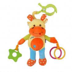Jucarie pentru carucior Vacuta BabyMix STK13539G, Multicolor