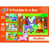 Set 4 puzzle-uri Animalute din padure Galt, 2-5 piese, 18 luni+