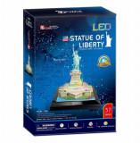 Cumpara ieftin Puzzle 3D Led - Statuia Libertatii, 37 piese, CubicFun