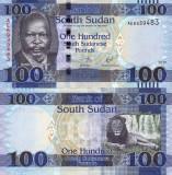 SUDANUL DE SUD 100 pounds 2017 UNC!!!