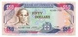 Jamaica 50 Dollars 01 02 1993 P 73 b UNC necirculata RARA