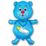 Balon mini figurina ursulet, blue, 30 cm