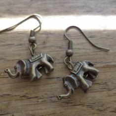 Cercei bronz elefant  3D