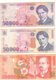 SV * Romania  LOT  BNR   2 x 50000 LEI 1996 / 2000 si 100000 LEI 2000       AUNC