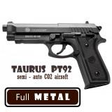 Pistol METAL Beretta TaurusPT92 CO2 Semi-automat Black 970grame, Cyber Gun