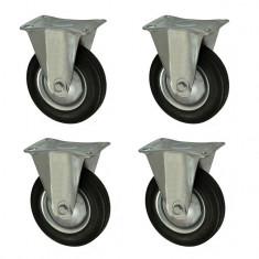 "Set 4 roti carucior, unidirectionale, cu talpa de metal, rulment, 3"", 75/25-50, YTGT-00059X4"