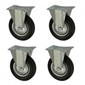 Set 4 roti carucior, unidirectionale, cu talpa de metal, rulment, 3, 75/25-50, YTGT-00059X4