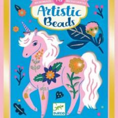 Set creativ cu margele - Animale si flori