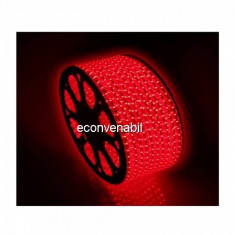 Furtun Luminos Banda 6000 LEDuri Lumina Rosie Rola 100m CL