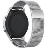 Cumpara ieftin Curea ceas Smartwatch Samsung Gear S2 Silver Milanese Loop, iUni 20 mm Otel Inoxidabil, Metal