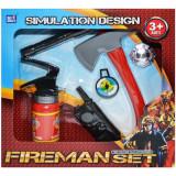 Set unelte de pompieri de jucarie, 6 piese, Plastic