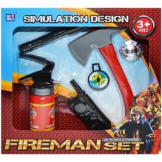 Set unelte de pompieri de jucarie 6 piese