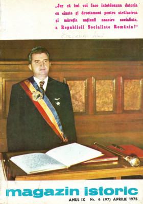 Magazin Istoric - anul 9 - nr. 4 (97) - aprilie 1975 (C185) foto