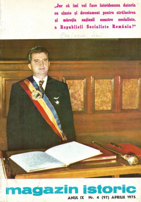 Magazin Istoric - anul 9 - nr. 4 (97) - aprilie 1975 (C185)