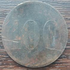 (M1115) JETON VECHI - 100 UNITATI, PERIOADA INCEPUTULUI SEC. XX