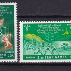 Birmania  1961  sport  MI 169-172    MLH  w59