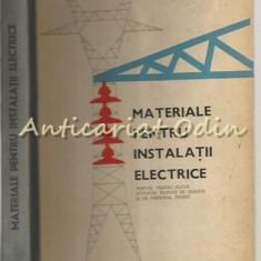 Materiale Pentru Instalatii Electrice - S. Prisiceanu, M. Voiosu