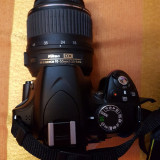 Nikon D3200 ca nou, doar 146 cadre, acumulator rezerva, geanta