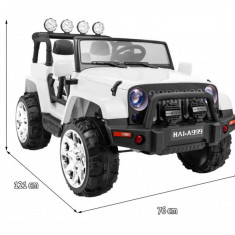 Masinuta electrica cu 2 locuri Jeep Master 4x4, alb