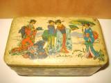 5542-Cutie ciocolata colectie veche motiv China- Japonia SCHUYBROEK HOBOKEN.