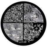Cumpara ieftin Matrita Metalica Stampila Unghii LUX-35 - Nature