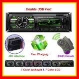 Casetofon Auto Bluetooth USB MP3 player Radio Aux Telecomanda volan Fast Charge