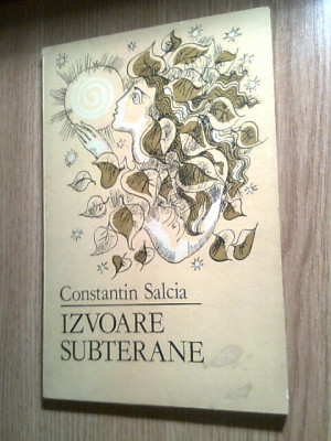 Constantin Salcia (autograf) - Izvoare subterane (Editura Litera, 1984) foto