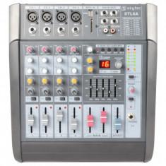 Mixer amplificat activ 2x240W RMS cu 6 canale, SD/USB/MP3 efecte DSP