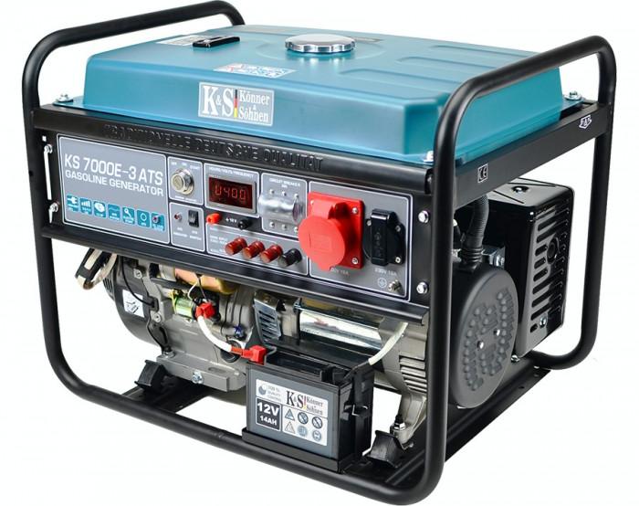 Generator curent trifazat cu automatizare 5.5 kW, KS 7000E-3 ATS Könner & Söhnen