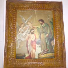 ICOANA VECHE - BOTEZUL DOMNULUI - LITOGRAFIE DUPA TATTARASCU