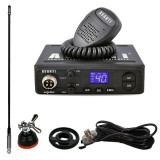 Pachet statie radio CB Avanti Alpha cu antena T3/27, adaptor si suport