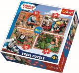 Puzzle Trefl 4in1 Calatori In Jurul Lumii