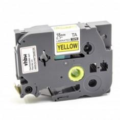 Schriftband-kassette ersetzt brother tze-641 18mm, schwarz auf gelb, ,
