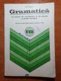 Manual de gramatica pentru clasa a 8-a  din anul 1975, Clasa 8, Limba Romana