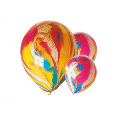 Baloane marmorate din latex 24 cm set 100 buc