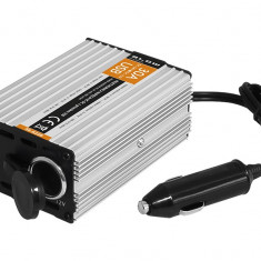 Convertor Transformator Tensiune Auto de la 24V la 12V cu Soclu USB 5V DC 500mA si Bricheta Auto