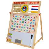 Tablita din lemn cu 2 fete, socotitoare, litere si cifre magnetice 46,5 x 38,5 x 23 cm