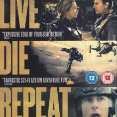 Blu Ray: Edge of Tomorrow ( original , cu Tom Cruise si Emily Blunt ), Engleza