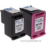 PACHET Cartus MARE negru HP301XL CH563EE + Cartus MARE color HP301XL CH564EE HP...
