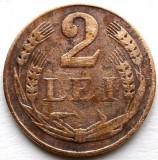 ROMANIA , 2 LEI 1947 , UN SG AN DE BATERE !!!